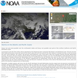 Storms on the Atlantic and Pacific Coasts