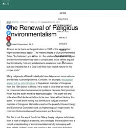 The Renewal of Religious Environmentalism