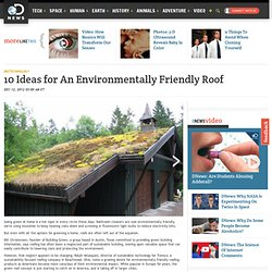 10 Ideas for An Environmentally Friendly Roof