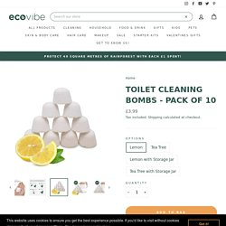 Environmentally friendly Toilet Cleaner Bombs - Pack of 10 – EcoVibe