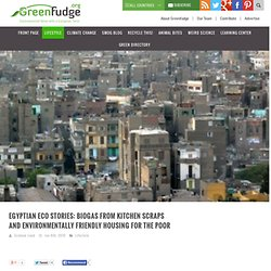 Egyptian eco stories: biogas from kitchen scraps and environmentally friendly housing for the poor