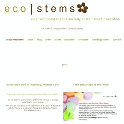 eco|stems - Toronto's only environmentally and socially sustainable flower shop.