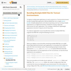 Bundling Multiple WAR Files for Tomcat Environments - AWS Elastic Beanstalk