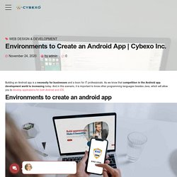 Environments to Create an Android App