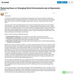 Reducing Hours or Changing Work Environments due to Depression - depression - Devpressed