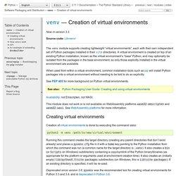 28.3. venv — Creation of virtual environments — Python 3.5.2 documentation