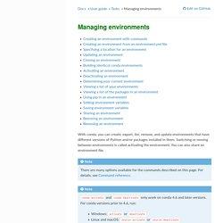 Managing environments — conda 4.7.11.post19+3ac7898e documentation