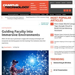 Guiding Faculty into Immersive Environments