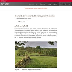 3. Environments, Elements, and Information - Understanding Context [Book]