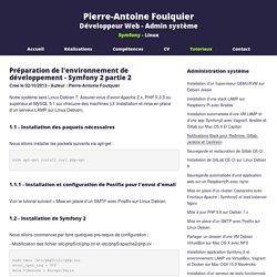 Préparation de l'environnement de développement - Symfony 2 partie 2 - Pierre-Antoine Foulquier