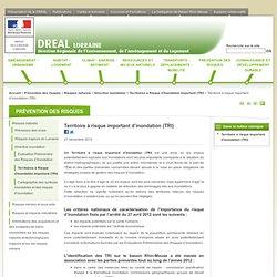 Territoire à risque important d'inondation (TRI) - Direction Régionale de l'Environnement, de l'Aménagement et du Logement de Lorraine