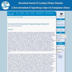 Le concept d'environnement d'apprentissage informatisé
