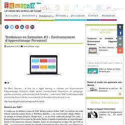 Tendances en formation #3 : Environnement d'Apprentissage Personnel