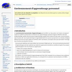 Environnement d'apprentissage personnel