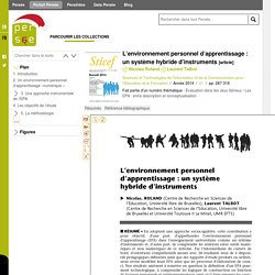 L'environnement personnel d'apprentissage : un système hybride d'instruments