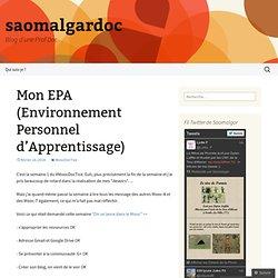 Mon EPA (Environnement Personnel d'Apprentissage)