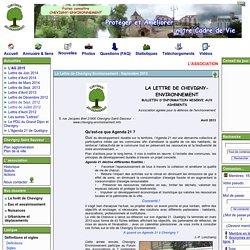 Chevigny Environnement association agréée pour la défense de l'environnement - La Lettre de Chevigny Environnement - Septembre 2013