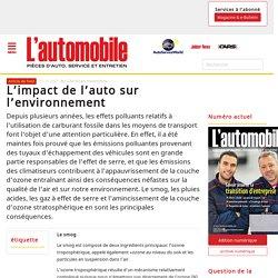 Les impacts environnementaux de l'automobile