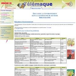 Éducation à l'environnement dans la littérature de jeunesse - Bibliographie