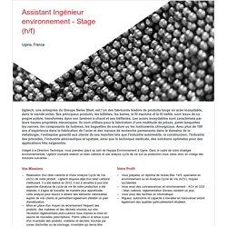 Niveau master - Assistant Ingénieur environnement - Stage (h/f) - SCHMOLZ-BICKENBACH.com