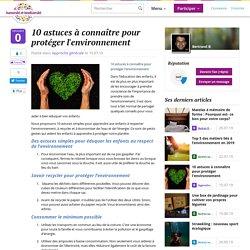 10 astuces à connaître pour protéger l'environnement