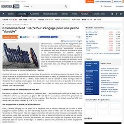 """Environnement : Carrefour s'engage pour une pêche """"durable"""""""