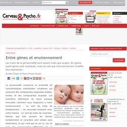 Entre gènes et environnement