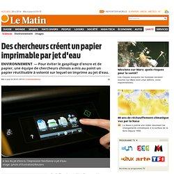 un papier imprimable par jet d'eau - News Santé: Sciences