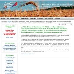 """GIS CLIMAT - 2011 - Le """"GIS Climat Environnement Société"""", en collaboration avec l'Observatoire national sur les effets du réch"""