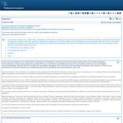 Rapport sur l'environnement, la sécurité et la politique étrangère (Procédure Hughes) - commission des affaires étrangères, de la sécurité et de la politique de défense - A4-0005/1999