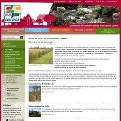 Le bocage - Agir pour l'environnement - Site de la Communauté de communes du Pays de Saint Aubin du Cormier