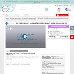 Environnement local et environnement distant - Canal U