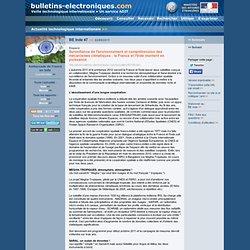BE Inde 47 >> 22/09/2011 Espace - Surveillance de l'environnement et compréhension des mécanismes climatiques : la France et l'I