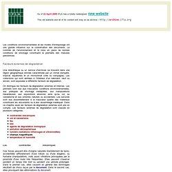 Environnement et conservation des documents