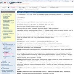 Charte de l'environnement de 2004 / Constitution / Droit français / Accueil