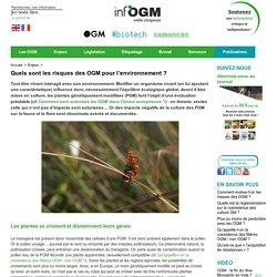 Environnement et OGM : risques, coexitence, contamination