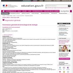 Vocabulaire de l'environnement - Ministère de l'Educat