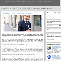 DIGITAL : le droit à la déconnexion en pratique