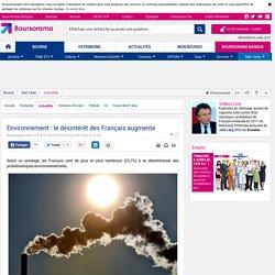 Environnement : le désintérêt des Français augmente