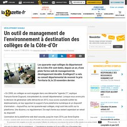 Un outil de management de l'environnement à destination des collèges de la Côte-d'Or