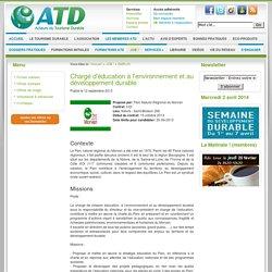 Chargé d'éducation à l'environnement et au développement durable