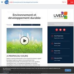 Environnement et développement durable (inscriptions jusqu'au 16 novembre 2015)