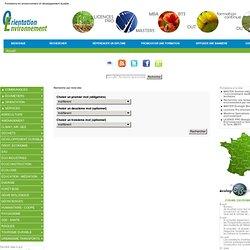 Recherche par mots-clés - Formations en environnement et développement durable