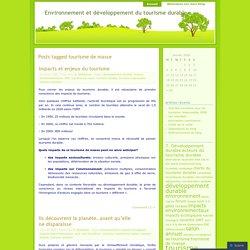 Environnement et développement du tourisme durable