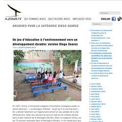 Un jeu d'éducation à l'environnement vers un développement durable: version Diego Suarez