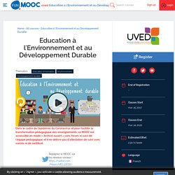 MOOC Education à l'Environnement et au Développement Durable