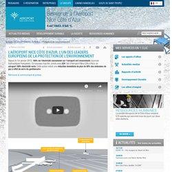 Protection de l'environnement / DÉVELOPPEMENT DURABLE - Aéroport Nice Côte d'Azur : aux portes du mythe de la Côte d'Azur
