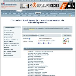 Tutoriel Backbone.js : environnement de développement