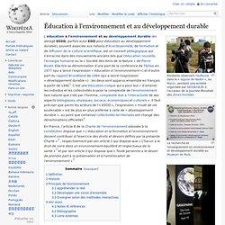Éducation à l'environnement et au développement durable