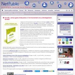 Ecoville, serious game d'éducation à l'environnement et au développement durable